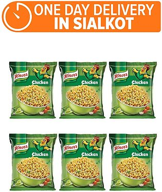 Knorr Noodles Chiken pack of 6 (One day delivery in Sialkot)