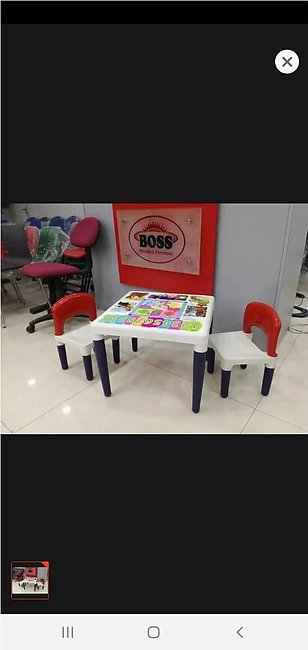 Boss Baby Study & Dining Set 2 Chairs & 1 Table