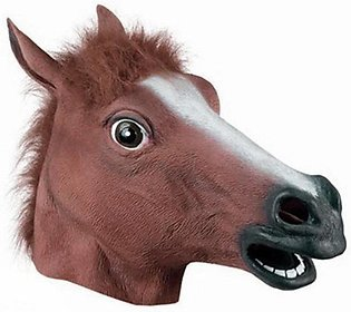 Creative Halloween Mask Prom Latex Horse Head Mask Animal Headgear Horse Mask