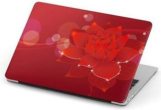 Red Flowers Background Laptop Skin