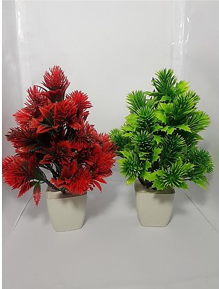 NS Collection-Pack of Two Pink & Red Tree Artificial Decoration Piece Best For …