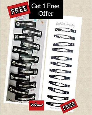 Hair Pins | Clips | Hair Accessories | 12 Pins Packet | Buy One Get One Free