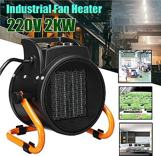2KW Industrial Electric Fan Heater PTC Home Thermostat Warmer 3 Speed Adjustable