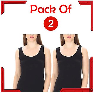 Pack of 2 comfortable and trendy Sleeveless Top undergarments for girls