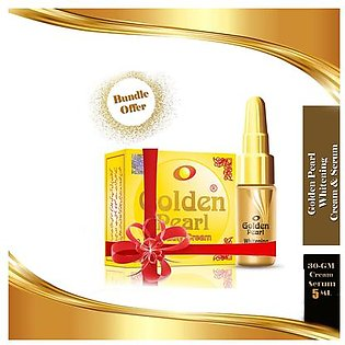 Golden Pearl Whitening Skin Serum 5ml & Beauty Cream