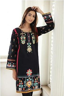 So Kamal Women EID Collection Black 1 PCS Pret - Embroidered Lawn Int:XS DPL 19-333