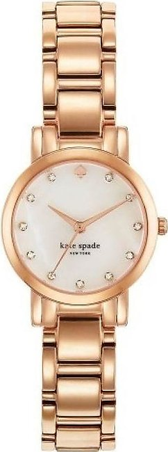 Kate Spade Gramercy Mini Mother of Pearl Dial Rose Gold-plated Steel Watch for …