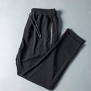 Mens Track Pants Breathable Quick Drying Ice Silk Training Pants