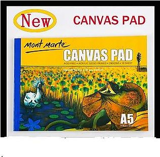 Mont Marte A5 Canvas Pad, 10 Sheet. Suitable for Use with Any Medium. Acrylic G…