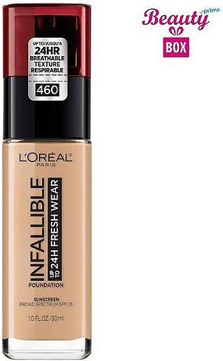 Loreal Infallible 24H Foundation - 140 Golden Beige, 30 ml