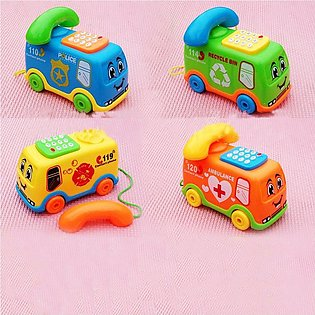 Music Cartoon Bus Phone Baby Toy Color Recognition Geometric Board Block Toys