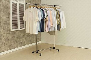 Single Pole Telescopic Portable Cloth Rack/Cloth Drying Stand Stainless Steel F…