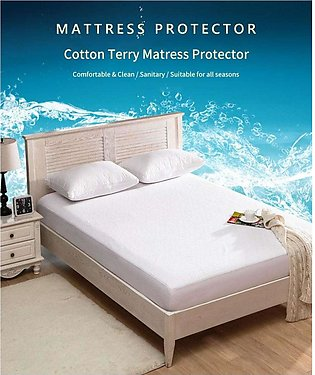 Waterproof Mattress Protector Anit Allergy Fitted Mattress Cover Bed And Fold...