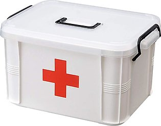 First Aid Kit Case Medicine Storage Box with Divided Compartments for for Hom...