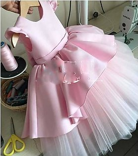 Fancy Branded Net and Silk Frock For Girls (Size 0 to 2xl) 5