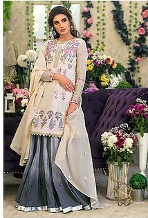 """GA - GUL Ahmed-Eid Collection 2019 Grey Embroided -3PC Unstitched-FE-182-203505"""""""