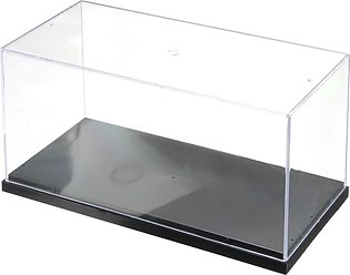 Clear Plastic Display Box Case Protection Toys Dustproof Big Size 26x13x13cm New