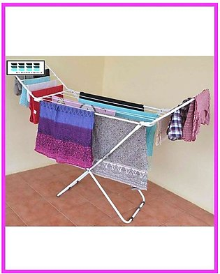 Folding Cloth Dryer Stand - Silver