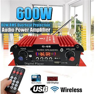 To Global 18W Car Audio bluetooth Power Amplifier 12v Dual Output With Remote...