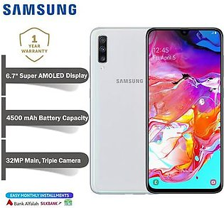 Samsung Galaxy A70 Mobile Phone -  6.7  Display - 6GB RAM - 128 GB ROM - Fingerprint