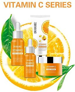 Pack Of 4 - Original Vitamin C Series - Vitamin C Face Cream,Vitamin C Eye Serum , Vitamin C Face Serum, Vitamin C Facial Cleanser