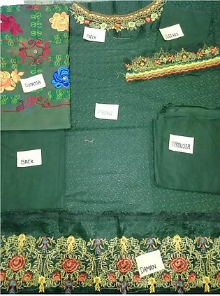 UnStitched Embroidery Lawn 3 Piece Suit