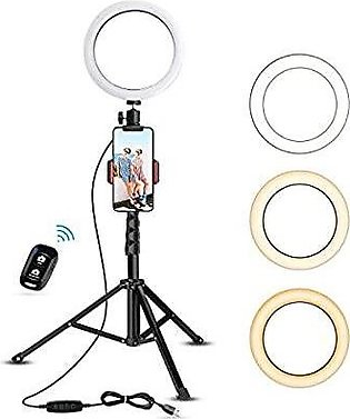 """8"""" Selfie Ring Light with Tripod Stand & Cell Phone Holder for Live Stream/Make…"""