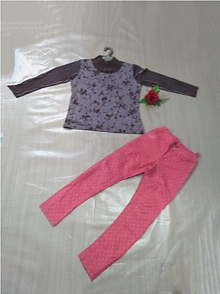 Spring Fall Baby Girl Clothing set Bird Embroidery Long Sleeve T Shirt + Dotted…