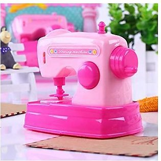 Mini Portable Sewing Machine Toy for Kids Battery Operated - Pink - Girl Toy