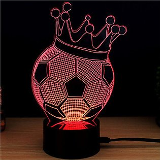 Colorful Touch Switch Table Light 3D Acrylic LED Night for Football Fan