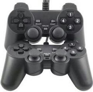 Pack of 2 JoyStick Wired USB 2.0 Black Gamepad Joystick Joypad Game Controlle...
