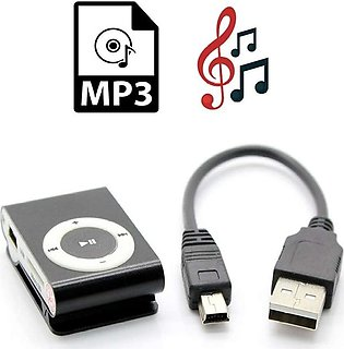 Mini Mp3 Player Support 8Gb Micro Sd Tf Card Usb Port Rechargeable Portable Cli…