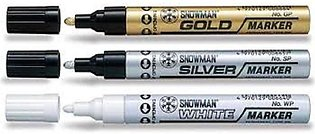 Pack Of 3 - Oil Paint Markers - Multicolors