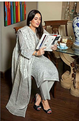 """""""GUL Ahmed-Summer Collection 2019  L.Grey Lawn-2 PC Unstitched-TL-182 B -195618"""""""