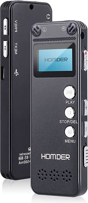Homder Digital Voice Recorder, 8GB USB Professional Dictaphone  with MP3 Play...