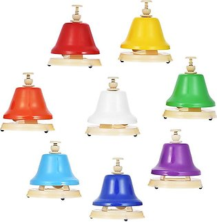 Colorful 8 Note Hand Bell Set Musical Educational Instrument Toy for Children K…