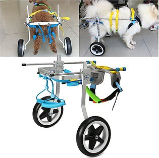 Pet Wheelchair Handicapped Puppy Cat Dog Disabled Hind Leg Stainless Steel Si...