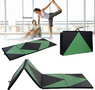 "4'x10'x2"" Thick Folding Panel Gymnastics Mat Gym Fitness Yoga Exercise Mat GM10"