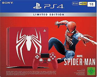 PlayStation 4 Slim Console 1TB with Limited Edition Marvel's Spider-Man