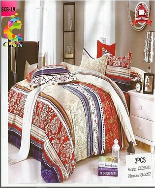 New Cotton Softy Foam Bedsheets With 2 Pillow Covers Scb-19 (R K)
