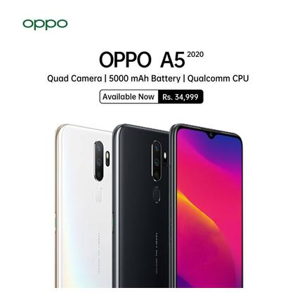 OPPO A5 2020 Mobile Phone  - 6.5'' FHD Display 4GB RAM & 128GB ROM