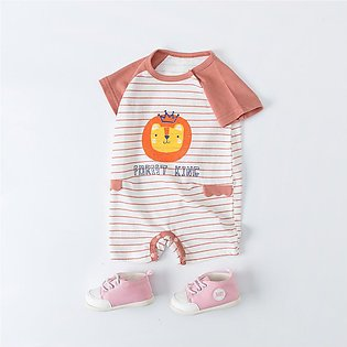 ✫Good Quality✫ Newborn Baby Boy Girls Cartoon Striped Infant Rompers Jumpsuit O…