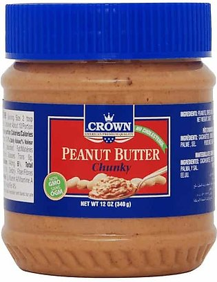 CROWN CHUNKY PEANUT BUTTER 340 GRAMS