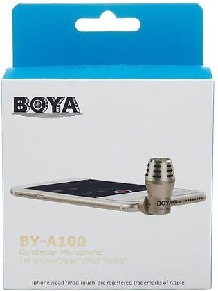 BOYA BY-A100 Mini Omni Directional Condenser Microphone 3.5mm AUX Jack Mic