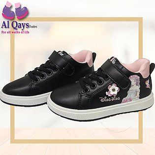 Branded Ding Ding imported Baby girl shoes - age 2.5 to 7 years - black color