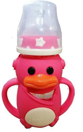 Duck Baby Glass Feeder With Cover - 260ml