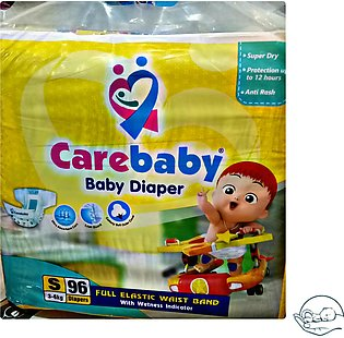 Care Baby Diaper Small Size 96 Pcs