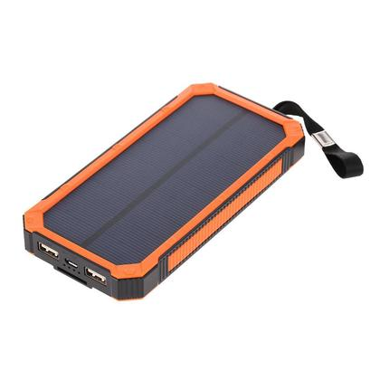 Portable Multifunctional 5000mAh Solar Power Bank Charger Dual USB Battery With 6LED 80LM Dimmable Camping Light Outdoor Hiking Travel Emergency Lamp