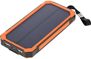 Portable Multifunctional 5000mAh Solar Power Bank Charger Dual USB Battery Wi...