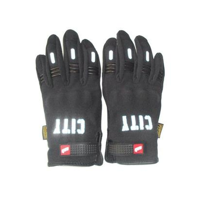 FU Full Finger Touch Motorcycle Gloves Riding Anti-wear Protective Gloves - Black M